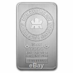 Royal Canadian Mint 10 oz 999 Fine Silver Bar