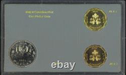 Royal Canadian Mint Circulating $1 One Dollar Coin Test Token Set Gold Bronze