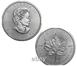 Royal Canadian mint 25 x 1 oz Random years Silver Maple Leaf Coin. 9999 Ag