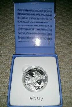 SILVER! 2014 $100 For $100 CAD The Majestic Bald Eagle Fine Silver Coin 99.99%