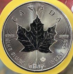 Sealed Roll of (25) 2016.9999 Fine 1 toz. Canadian Silver Maple Leaf