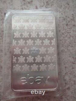 Three (3) 10 oz. Silver Bars Low Serial Numbers First Series eBay RCM. 9999
