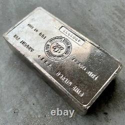 VINTAGE Royal Canadian Mint RCM 100 oz. 999 Silver Bar Attractive condition