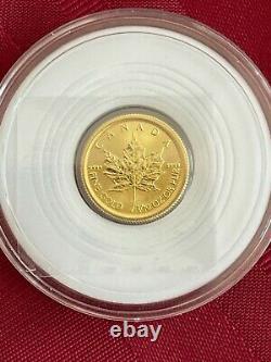 1/10 Oz 2021 Pièce D'or Feuille D'érable Canadienne