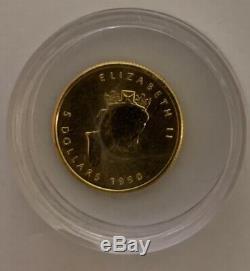 1/10 Oz D'or 1990 D'érable Canadien