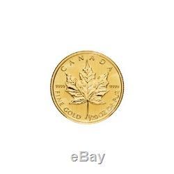 1/20 Oz Au Hasard Année Feuille D'érable Canadienne Pièce D'or