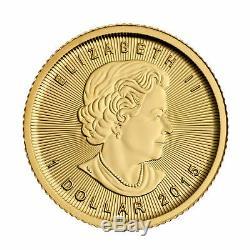 1/20 Oz D'or Feuille D'érable Canadienne Coin. 9999 Fine1 / 20 Oz 2019