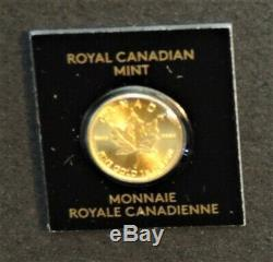 1-2017 Canada 1 Gramme. 9999 Pièce D'or Bu Mint Manches Offre # 1