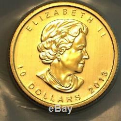 1/4 Oz 2013 Ours Polaire Canadien Pièce D'or