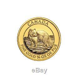 1/4 Oz 2014 Fox Arctique Canadien Pièce D'or