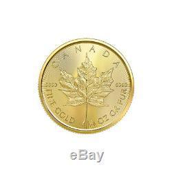 1/4 Oz 2020 D'érable Du Canada Feuille D'or Pièce