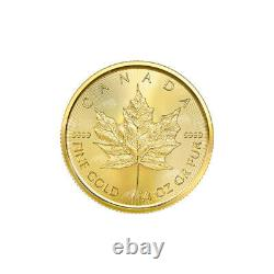 1/4 Oz 2021 Pièce D'or Feuille D'érable Canadienne