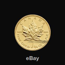 1/4 Oz Au Hasard Année Feuille D'érable Canadienne Pièce D'or