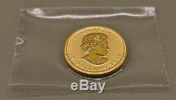 1/4 Oz D'or $ 10 Feuille D'érable Canadienne 2014
