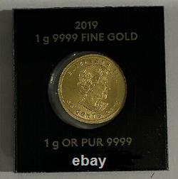 1 Gram Pièce D'or De La Monnaie Royale Canadienne