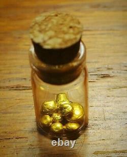 1 Gramme D'or 24k. 9999 Rcm Raffiné Grain D'or Pur Tir Bullion Dans Le Flacon