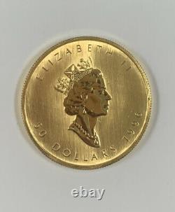 1 Oz 1996 Pièce D'or Feuille D'érable Canadienne