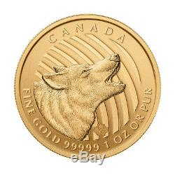 1 Oz 2014 Appel De La Série Sauvage Hurlant Loup Pièce D'or