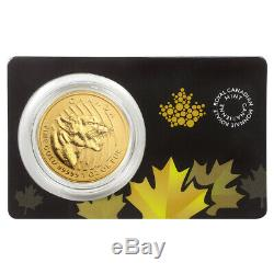 1 Oz 2015 Appel De La Série Sauvage Grognement Cougar Gold Coin
