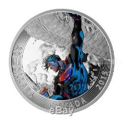 1 Oz 2015 Iconic Superman Comic Book Covers Superman Unchained # 2 Argent