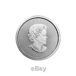 1 Oz 2019 Argent Feuille D'érable Coin Mrc. 9999 Ag Monnaie Royale Canadienne