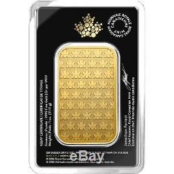 1 Oz 2019 Gold Bar Rcm. 9999 Or Nouveau Design Assay Monnaie Royale Canadienne
