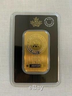 1 Oz 2020 Gold Bar Nouveau Design Mrc. 9999 Au Monnaie Royale Canadienne