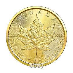 1 Oz 2021 Pièce D'or Feuille D'érable Canadienne