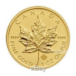1 Oz Au Hasard Année Feuille D'érable Canadienne Pièce D'or