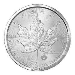 1 Oz Au Hasard Année Feuille D'érable Canadienne Platinum Pièce
