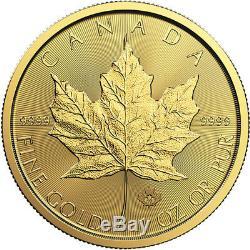 1 Oz D'or 2019 Feuille D'érable Coin Mrc. Or 9999 Monnaie Royale Canadienne