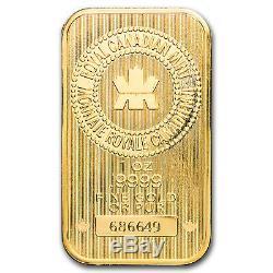 1 Oz Gold Bar Monnaie Royale Canadienne (nouveau Style, Dans Le Dosage)