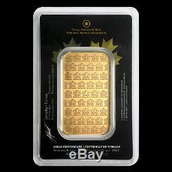1 Oz Gold Bar Monnaie Royale Canadienne (old Style, Dans Le Dosage) Sku # 72805