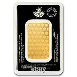1 Oz Gold Bar Royal Canadian Mint (nouveau Style, Dans L'essai)