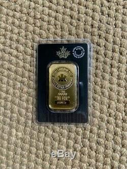 1 Unze Royale Gold Bar Canadian Mint Etanche (hardfind Au Moment. Sold Out!)