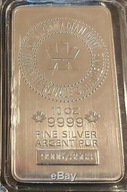 10 Oz 0,9999 Bar En Argent Fin Monnaie Royale Canadienne (rcm)