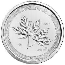 10 Oz 2017 Monnaie Royale Canadienne Magnifique Feuilles D'érable Pièce D'argent