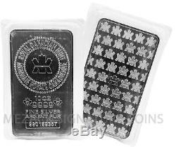 10 Oz. 9999 En Argent Fin Monnaie Royale Canadienne (mrc) Mint Bar Scellé Aucun Retour