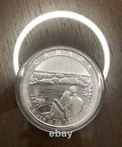 10 Oz. 9999 Niagara En Argent Fin 2017 Canada Chutes Coin Capsule