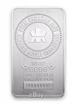 10 Oz Bar Royale D'argent À La Menthe Canadienne. 9999