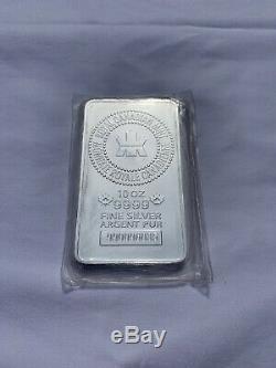10 Oz Monnaie Royale Canadienne. 9999 Bar En Argent Fin Rcm Maple Leaf New Mint Etanche