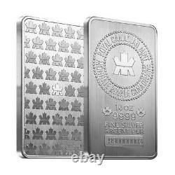 10 Oz Monnaie Royale Canadienne (mrc). 9999 Fine Silver Bar Scellé En Stock