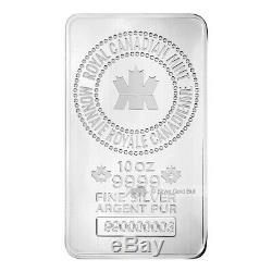 10 Oz New Monnaie Royale Canadienne Argent Bar
