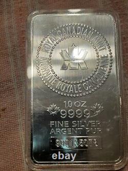 10 Oz Rcm Silver Bar. 9999