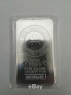 10 Oz Silver Bar Royale Canadienne