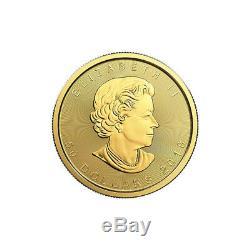 10 X 1 Oz D'or 2019 Feuille D'érable Monnaie Royale Canadienne Mrc