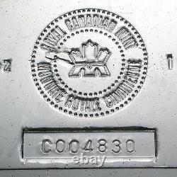 100 Oz Barre D'argent Mrc (vintage) Ugs #22218