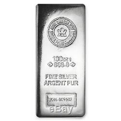 100 Oz D'argent Bar Rcm (. 9999 Fine, Finition Pressé) Sku # 97758