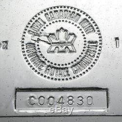 100 Oz D'argent Bar Rcm (vintage) Sku # 22218