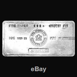 100 Oz Monnaie Royale Canadienne Vintage Silver Bar